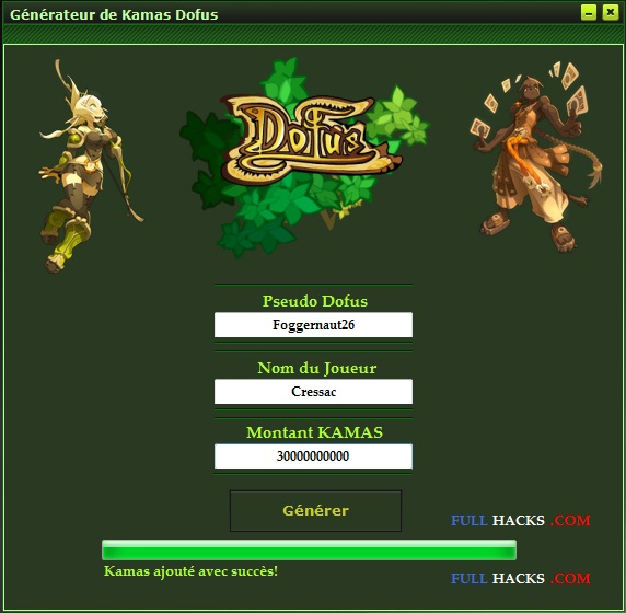 generateur de kamas dofus 2.9